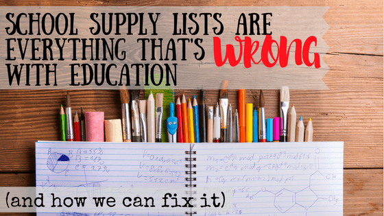 "Do you ever look at your shopping cart after buying everything on the school supply list and wonder, ""How will my child ever use all this stuff?!?"" The short answer is – they won't. Many school systems have forced families into a redistribution system. It seems like charity, but it's not. Here's why it's not and how we can change it."