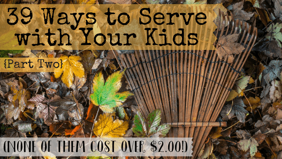 Finding family service projects that don't cost a fortune or require a passport can be tough. This list is full of easy and cheap ways for families to serve together. None of the projects cost over $2.00 and they're appropriate for all ages!