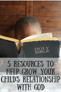 Do you feel overwhelmed at the idea of helping your child to grow in their relationship with God? Don't worry, you're not alone. We've rounded up the five best resources to help grow your child's relationship with God, and two of them are free!