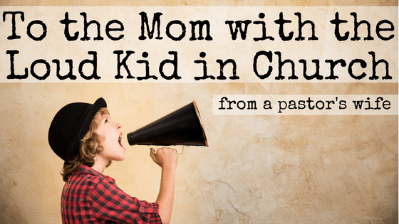 Do you ever feel like it's pointless to even come to church? Your kid is so loud and distracting that you're missing most of the sermon anyways. I see you and I know the struggle is real. But don't give up yet. Here are three things I've learned from being the mom with the loud kid in church. #loudkids #church #parenting #christian #pastorswife