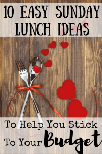 We're all tired after church on Sundays. These quick and frugal Sunday lunch ideas will help you to get a healthy meal on the table without wearing yourself out or getting take out. #lunchideas #Sundaylunch #quicklunch #frugalmeals #crockpotmeals