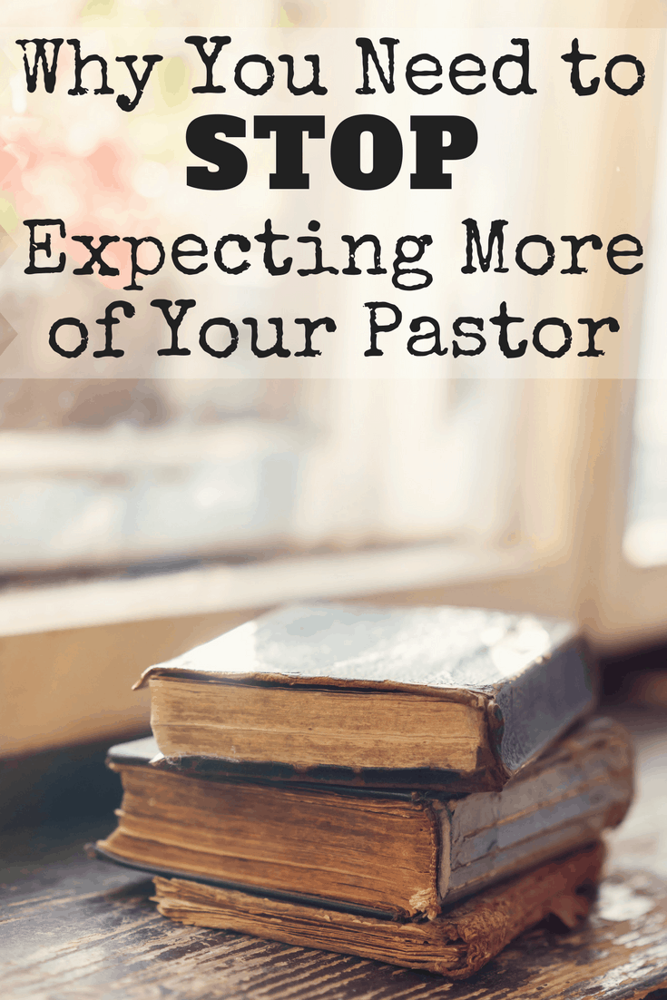 Are pastors held to a higher standard? Most people would answer,