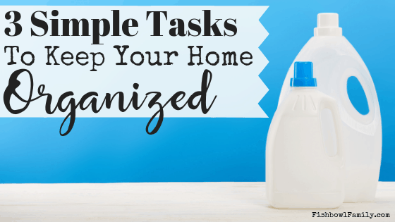 Do you feel like you're living in survival mode? The laundry is stacked up, the sink is always full, lunches are thrown together as you as dash out the door? We've been there. These three simple steps will help you to keep your home organized. #declutter #stopcatchingup #organizedhome #smallsteps #chaosmanaged #simplify