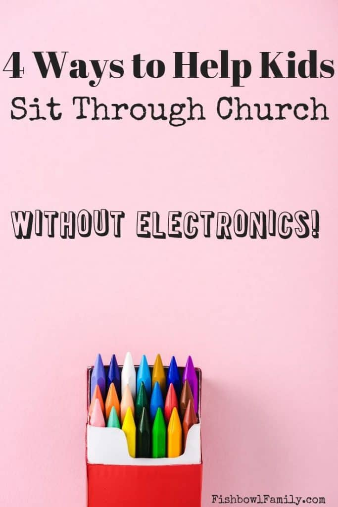 how to Help Kids Sit Through church