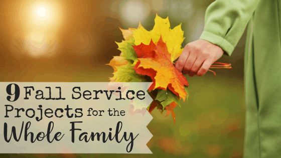 Do you want to raise kids who serve others selflessly, but you aren't quite sure where to start? This list of 9 fall service projects for the whole family will give you a great starting point! Plus we're giving away a free printable PDF tic-tac-toe board with all the projects on it so you can check off your accomplishments as you go! #familyservice #familyserviceprojects #fallserviceprojects #serviceprojects