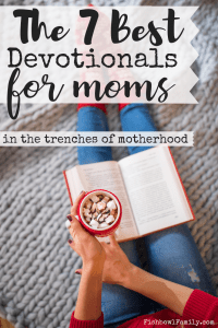 As a mom, it's vital that we take time to spend alone with God every day. And while this list of the seven best devotionals for moms won't help you create time, it will help you to make the most of your quiet time. These books are perfect for moms in the trenches of motherhood. #quiettime #devotionals #dailybread #lysaterkeurst #firstfive #pauldavidtripp