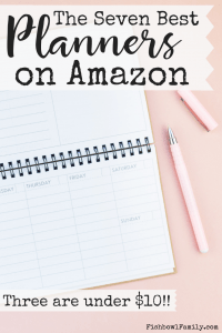 Find the perfect planner can be tough. With this guide to the best planner on Amazon, you'll be able to easily find the best one for you! Plus 3 out of the 7 are under $10!! #bestplanner #amazon #planning #momplanner #organizer #calendar