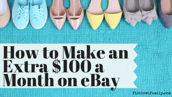 Would you like to make an extra $100 a week AND declutter your house? In this post, we show you have to make extra money on eBay in about 5 hours a week. #ebayseller #declutter #extramoney #ramseyway #getoutofdebt #sidehustle