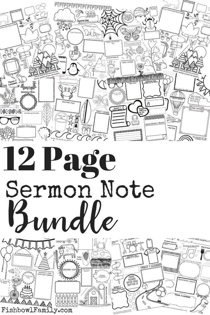 Sermon Notes for Kids