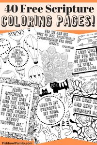 40 FREE Scripture Coloring Pages