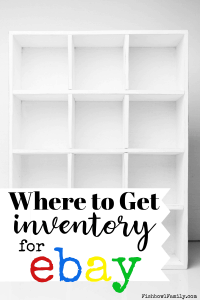If you've already cleaned out your whole house and now you need more stuff to sell, here are 7 great places to get inventory for eBay. Because who wouldn't like to make an extra $100 a week on ebay?! #ebayinventory #extramoney #sidehustle
